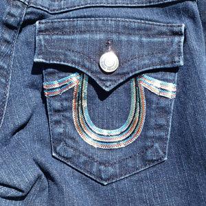 True Religion Billy womens jeans 29 sequin bling